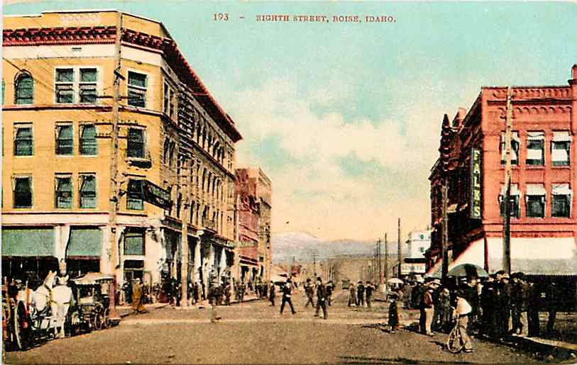 8th Street looking north, 1908