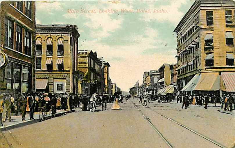 Main Street looking west in 1908