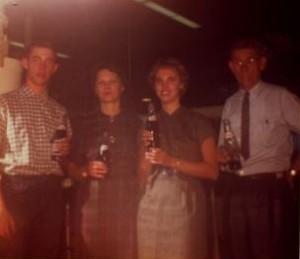 Jack, Mildred, Anne and John F. Nagel, 1969