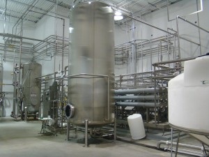 Water filtration and processing room