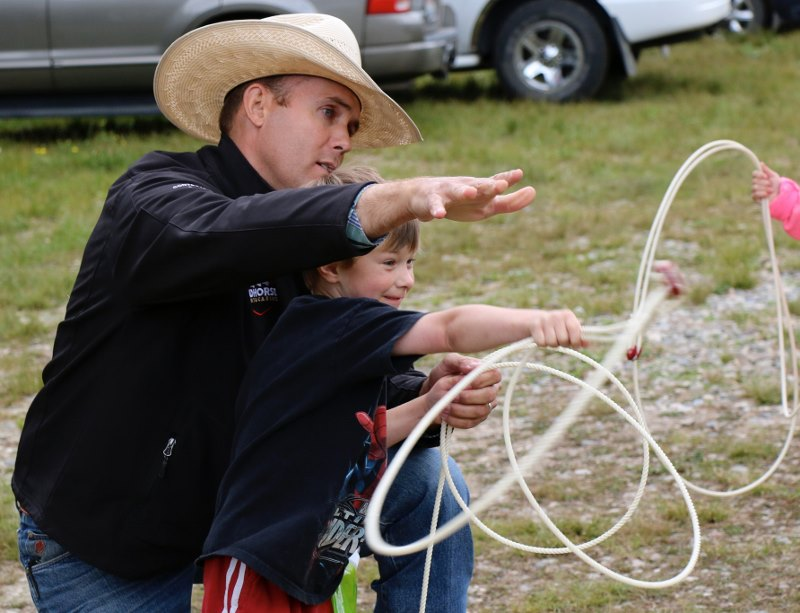 Ryan Endicott has hemophilia, but it doesn't stop him from teaching kids how to rope at Camp Red Sunrise.