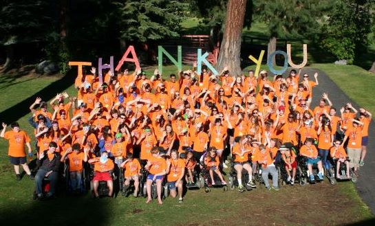 Campers, volunteers and staff send a shout out to all who helped fund the MDA Camp in McCall.