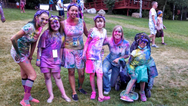 MDA campers had a 'color war' at camp, an idea gleaned from the Color Run.