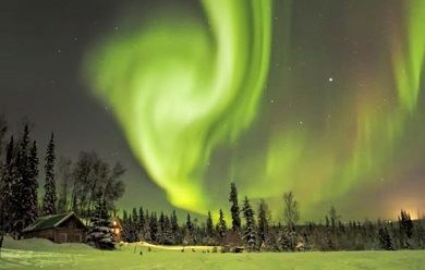 Michelle's wish granted by Wish Granters was a trip to see the Northern Lights.